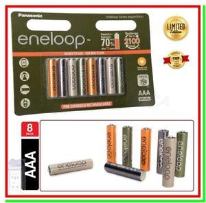 8 Eneloop Pile Ricaricabili AAA Batterie Ministilo 750mAh Expedition HR03