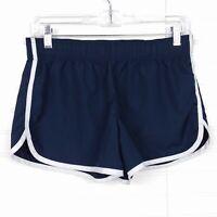 Victoria's Secret PINK Women's XS Spellout Navy Blue White Trim Athletic Shorts