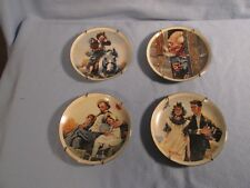Norman Rockwell 1980'S Classics Set of Four (4) Plates Limited Edition
