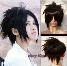Anime Naruto Uchiha Sasuke Noir court droit  perruque de cheveux de fête