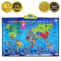 BEST LEARNING i-Poster My World Interactive Map - Educational Talking Toy for