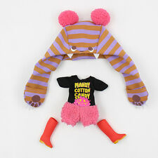 "Takara 12""Blythe Doll Original Outfits - Cotton Candy Suit- Hat+Jumpsuit+Shoes"