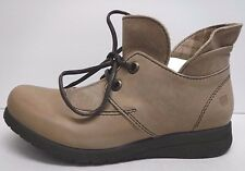 Born Size 7 Taupe Leather Ankle Boots New Womens Shoes