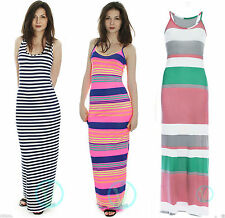 Jersey Round Neck Striped Dresses for Women