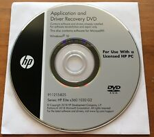 Application and Driver Recovery DVD HP Elite x360 1030 G2 - Brand New