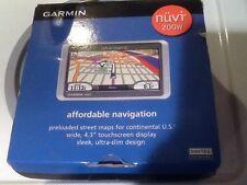 """GARMIN nuvi 200w 4.3"""" touchscreen ultra-slim Mountable preloaded GPS Unit Box"""
