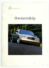 Owning a Mercedes introductory 11 page booklet brochure - wp