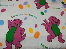 Barney Sheet or Curtain Craft Material I Love You Song Bibb Co. Dinosaur VTG 90s