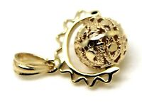 9ct YELLOW GOLD FILIGREE 10MM BALL SPINNER PENDANT *FREE EXPRESS POST IN OZ*