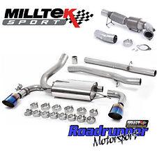 """MILLTEK Focus RS MK3 Turbo posteriore di scarico & GATTO il tubo verticale 3"""" non RES bruciato in titanio"""