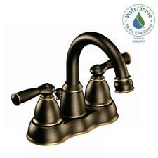 MOEN Banbury 4 in. Centerset 2-Handle High-Arc Bathroom Faucet in Med. Bronze