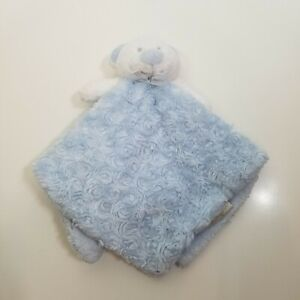 Blankets and Beyond Blue White Bear curly Dot Baby Lovey Security Blanket