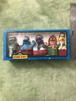 Vintage Sesame Street Kurt S Adler Christmas Ornament set Lot 5 Bert Ernie