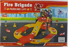 FIRE BRIGADE TRACK PARKING LOT SET TOY FOR KIDS 3+
