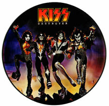 """X 3 KISS HIGH QUALITY VINYL STICKERS  100MM ROUND 4"""" MORE KISS  LISTED.1 FREE .."""