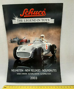 Schuco The Legend in Toys New Releases Autumn 2003, models catalogue, 8 pages