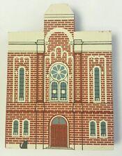 Cat's Meow First Baptist Church Series Vi Faline '89 Wooden Shelf Sitter