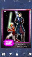 Topps Star Wars Digital Card Trader Pink Steel Ahsoka & Anakin Base 4 Variant