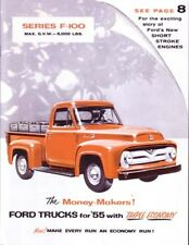1955 Ford Truck Sales Brochure Literature Book Dealer Advertisement Options