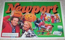 1994 print ad -Newport cigarettes Girl Guy Halloween pumpkin Vintage ADVERT PAGE