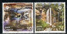 1283 SERBIA 2018 - European Nature Protection - Waterfalls - Cave - MNH Set