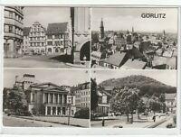 Ansichtskarte Görlitz - Untermarkt/Gerhart-Hauptmann-Theater/Landeskrone - s/w