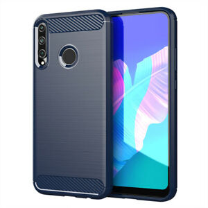For Huawei P40 Pro / P40 Lite E Ultra Slim Carbon Fiber Soft TPU Shockproof Case