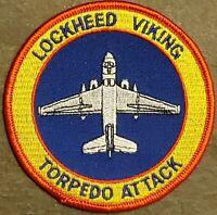 USN Navy S-3 VIKING Anti-Submarine Squadron Patch  TORPEDO ATTACK COLOR FLIGHT