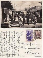 # LIBIA - BENGASI: PIAZZA FERRARI - MERCATO ARABO   1932
