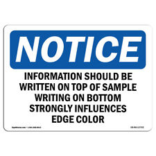 OSHA Notice - Information Should Be Written On Top Of Sign | Heavy Duty