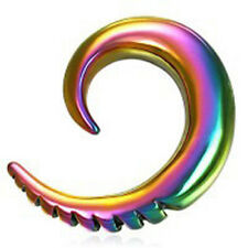 Pride Shack - Rainbow Ear Taper Expander Scale Tip - Gay & Lesbian Pride Earring