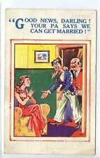 """(Gg208-100) """"Good News, Darling Your Pa Says We Can Get Married"""", 1939, Used VG"""