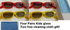 4 pairs - Children's Passive 3D Glasses for Kids Genuine Ultimate 3D Heaven