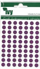 980 Purple 8mm Self Adhesive Round Dot Labels - 232720 - Made In The UK By Ivy