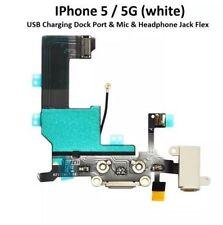 New iPhone 5 5G USB Charging Dock Port & Mic & Headphone Jack Flex white