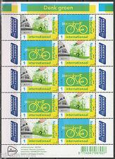 2016 Europa CEPT - Nederland 3399-3400 vel Denk groen fiets - bicycle
