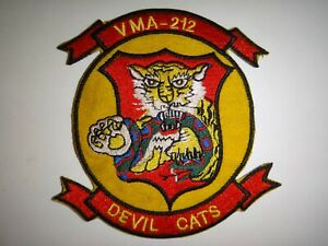 Korea War (1950-53) Patch USMC Marine VMA-212 DEVIL CATS