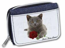 Blue Cat+Rose 'Love You Mum' Girls/Ladies Denim Purse Wallet Chris, AC-186RlymJW