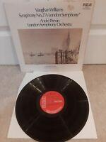 SB 6860 Vaughan Williams London Symphony no. 2 Andre Previn 1972  RCA