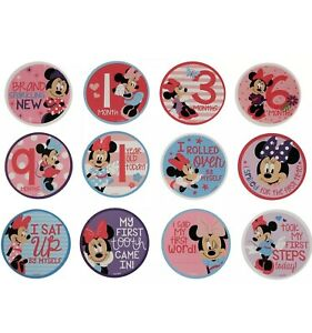 Disney Baby Girls Belly Stickers Gift Set, Minnie Mouse Milestone First Year New