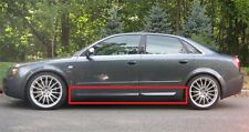 AUDI A4 B6 B7 S4 LOOK SIDE BLADES / DOOR BLADES / DOOR BAR NEW 4 PCS