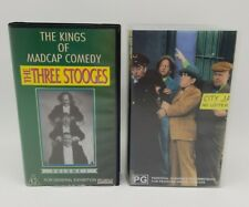The Three Stooges VHS Collection 4 x Tapes.  Good Condition