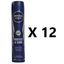 12 x NIVEA DEODORANT PROTECT & CARE ANTIPERSPIRANT SPRAY FOR MEN 48H  200ml