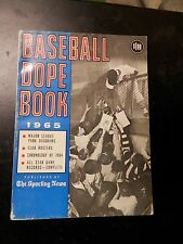 Vintage baseball dope book pictures stat sporting news records 1965