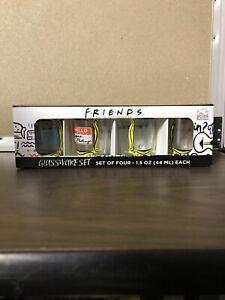 Friends TV Series Set of Four 4 Glassware Shot Glasses Lobster Regina Phalange