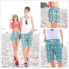 Summer Men Women Lovers Ocean Anchor Beach Shorts Short Pants Board Surf Shorts