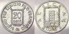 GETTONE TOKEN BUONO PER SERVIZIO FILO TRANVIARIO DA 20 CENTESIMI COMO 1944#2159A