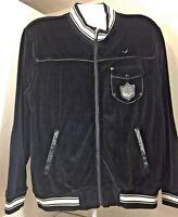 mens triple fat goose hip hop black velour jacket size xl