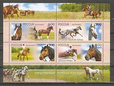 Russia 2007,Souvenir Sheet,Horses ,Scott # 7054a,XF MNH**