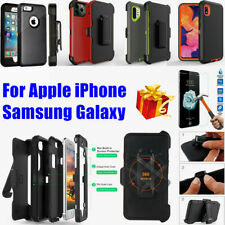 For Apple iPhone/Samsung Galaxy Shockproof Case Cover w/ Belt Clip fits Defender